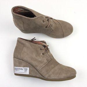 TOMS Womens Desert Wedge Boots DR01905